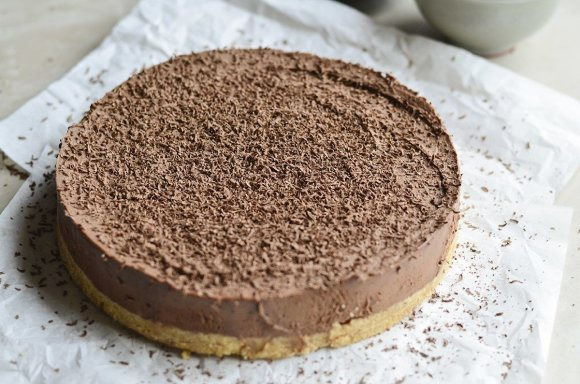 """Tinklaraščio """"Skanios dienos"""" nuotr./Nekeptas šokoladinis maskarponės pyragas"""