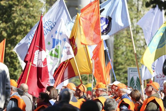 Luko Balandžio/15min.lt nuotr./Mitingas prie Seimo