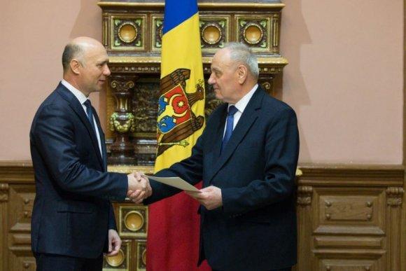 Moldovos prezidentūros nuotr./Prisiekė Moldovos premjeras
