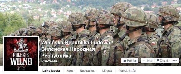 """Propagandinis puslapis """"Facebook"""""""