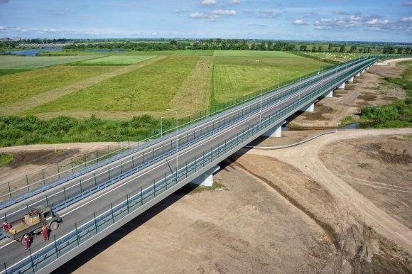 """""""Kauno kelių"""" nuotr./Panemunės tilto statybos"""