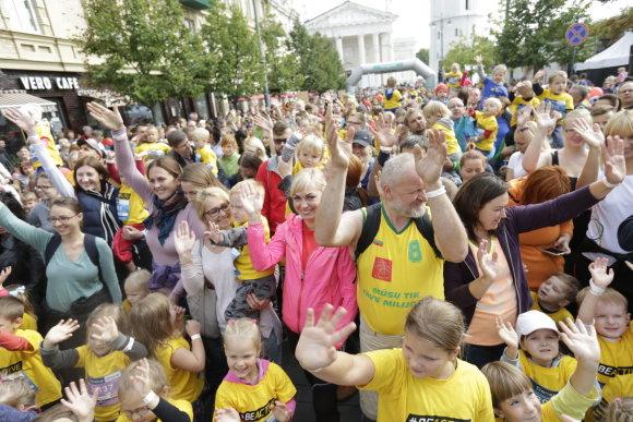 """""""Danske Bank Vilniaus maratono"""" archyvo nuotr./Vaiko aktyvumas prasideda nuo šeimoje formuojamų įpročių"""