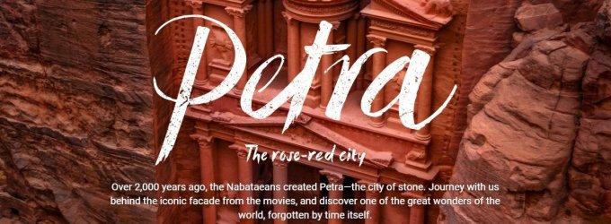 """""""Google Street View"""" suteikia progą virtualiai aplankyti įspūdingą Petros miestą"""