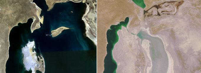 Aralo jūra itin smarkiai nuseko