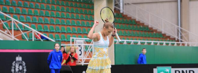 Lina Stančiūtė iškopė į ITF serijos teniso turnyro Didžiojoje Britanijoje aštuntfinalį