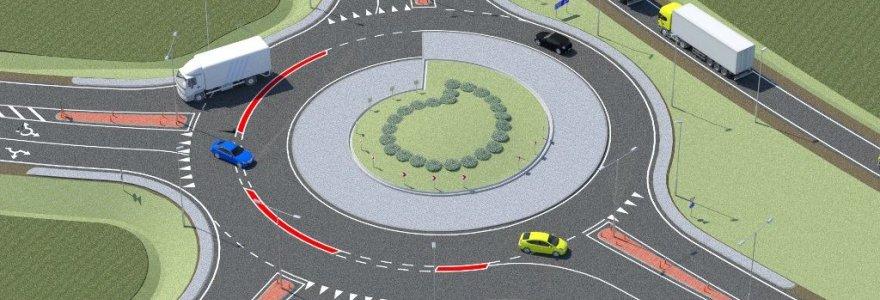 """""""Via Baltica"""" bus įrengta Lietuvoje neregėta turbo-žiedinė sankryža"""