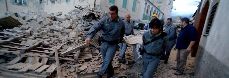 Centrinę Italiją sukrėtė stiprus žemės drebėjimas: auga aukų skaičius