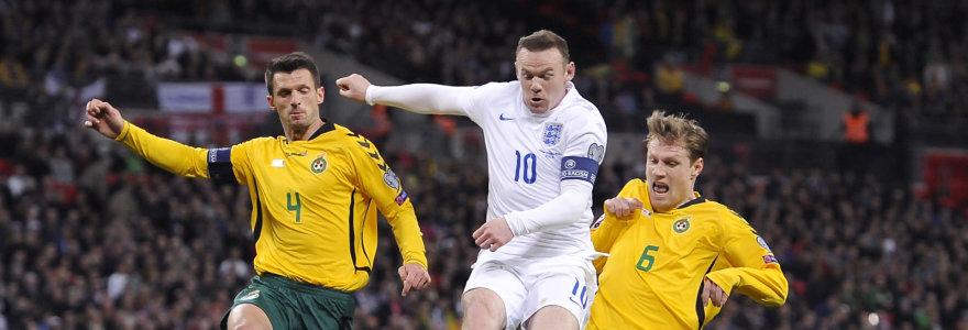 Be prošvaisčių: Anglijos rinktinė sutriuškino Lietuvą 4:0