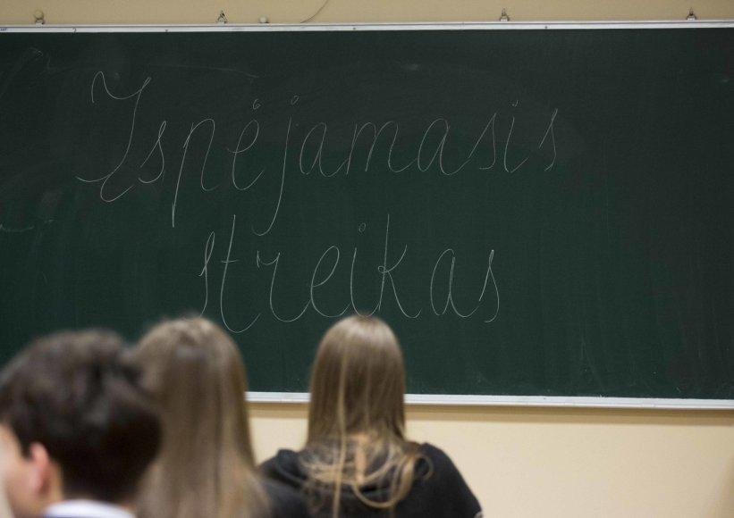 Streikas Vilniaus Simono Daukanto gimnazijoje