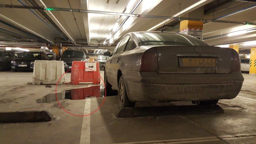 """""""VW Passat"""", paliktas prekybos centro """"Panorama"""" aikštelėje"""