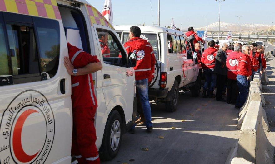 JT Humanitarinės pagalbos konvojus vyksta iš Damasko į kitus regionus