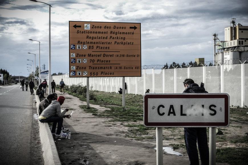 """Migrantų stovykla """"Džiunglės"""" prie Kalė Prancūzijoje"""