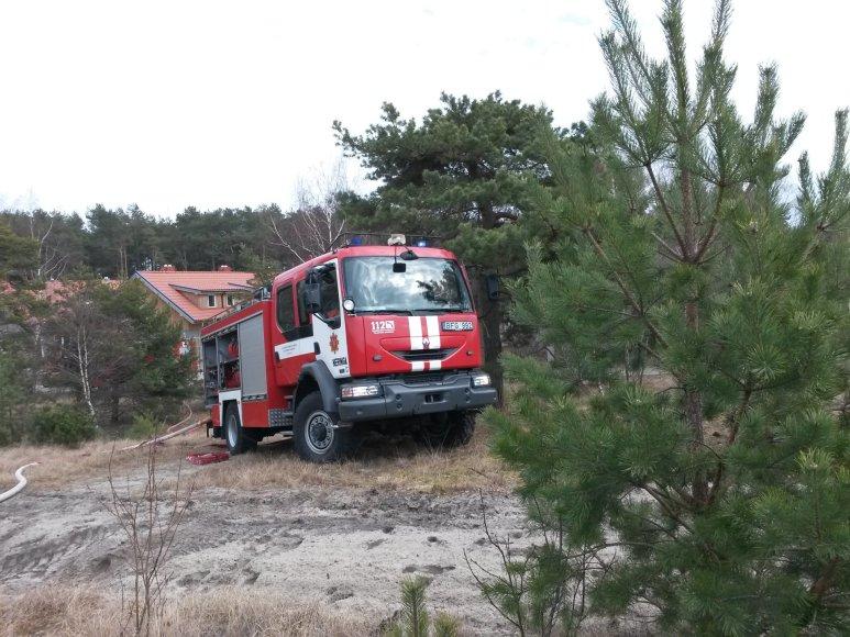 15min.lt nuotr./Kuršių nerijoje surengtos pratybos ugniagesiams
