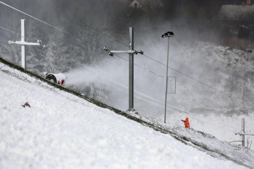 Irmanto Gelūno/15min.lt nuotr./Ant Liepkalnio kalno jau sninga