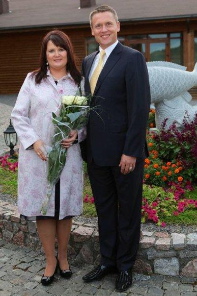 Žilvinas Elvikis su žmona Daina