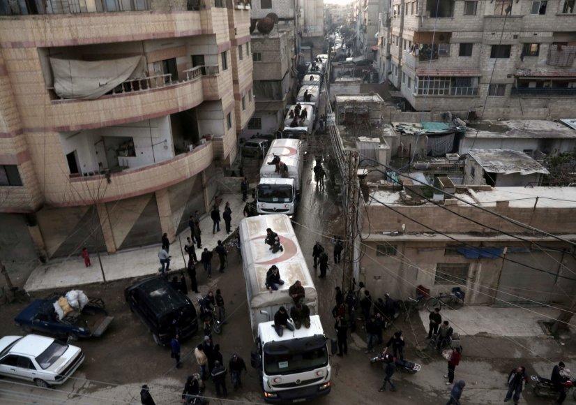 """AFP/""""Scanpix"""" nuotr./Humanitarinė pagalba Sirijai"""