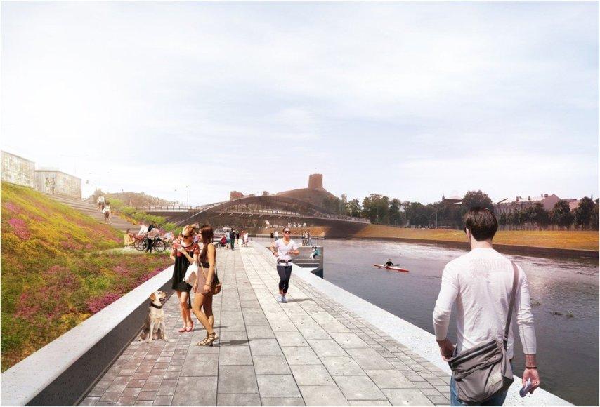 Vilniaus savivaldybės nuotr./Krantinė ties Technikos ir energetikos muziejumi