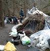 Vilniaus policijos pareigūnai lankė miške gyvenančius benamius